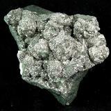 Arsenopyrite on safflorite Harrison-Hibbert (Ruby) Mine, Cobalt, Ontario, Canada 8x5x3 cm Druzy arsenopyrite crystals on massive safflorite. (Author: Joseph D'Oliveira)