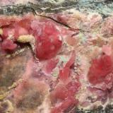 Calcita cobaltífera, detalle pieza anterior Mina Solita, Peramea, Baix Pallars, Pallars Sobirà, Lleida, Catalunya, España 207x80x78 (Autor: Carles)