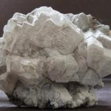 Witherite with surface alteration to Baryte Haggs Mine, Nentsberry, Alston, Cumbria. 44 x 36 mm (Author: nurbo)