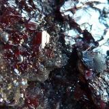 Cinabrio, Mercurio<br />Mina El Entredicho, Almadenejos, Comarca Valle de Alcudia, Ciudad Real, Castilla-La Mancha, España<br />Foto formato MACRO<br /> (Autor: javier ruiz martin)