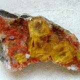Fluorite Dörfel Quarry, Annaberg, Erzgebirge, Saxony, Germany Specimen width 65 mm (Author: Tobi)