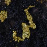 Oro. Filón 340, Rodalquilar, Nijar, Almería, Andalucía, España. Ancho de la foto 2 mm. (Autor: Juan Miguel)