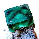 Fluorite Erongo Mountain, Erongo Region, Namibia Crystal size 10 mm (Author: Tobi)