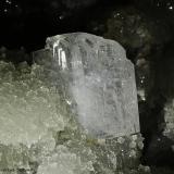 Epistilbita.  Jalgaon. India.  10x6.5 cm. Cristal 1.5 cm. (Autor: Juan Luis Castanedo)