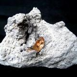 Topaz Thomas Range, Juab Co., Utah, USA Specimen width 80 mm, main crystal 13 mm (Author: Tobi)