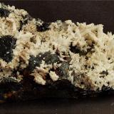 Calcite on Sphalerite with Minor Quartz Rampgill Mine, Alston, Cumbria, England, UK 65 x 40 mm (Author: nurbo)