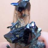 Aegirine and smoky quartz Zomba mountains, Malawi 86 x 42 x 33 mm (Author: Pierre Joubert)