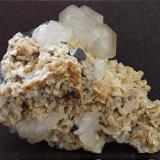 Calcite, Galena, Dolomite, Quartz Handsome Mea Flats, Smallcleugh Mine, Nenthead, Alston, Cumbria, England, UK. 60 x 50 mm (Author: nurbo)