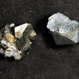 Tetraedrita Mina Preciosa, Paymogo, Huelva, Andalucía, España. Cristales de 1x1 cm (Autor: Antonio Carmona)