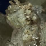 Calcite, Quartz, Muscovite Rist Mine, Hiddenite, Alexander Co., North Carolina, USA  Detail (Author: am mizunaka)