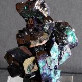 Azurite Mina Milpillas, Cananea,Sonora, México 8x4,5 cm. (Author: Enrique Llorens)
