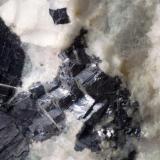 Fluorita masiva con Galena Mines d'Osor - La Selva - Girona - Catalunya - España 90 x 70 x 50 mm Detalle (Autor: Joan Martinez Bruguera)