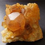 Calcite La Sambre Quarry, Landelies, Hainault, Belgium. 55 x 50 mm (Author: nurbo)