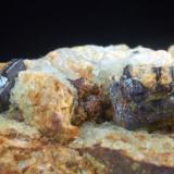 Pirita<br />Pedrera Balmaña (Pedrera d'en Balmanya), Torrent del Marmoló, Tossa de Mar, Comarca La Selva, Girona / Gerona, Catalunya, España<br />75 x 40 x 40 mm<br /> (Autor: Joan Martinez Bruguera)