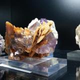 Barita, Fluorita Berbes, Asturias, España 13x9, cristales de hasta 3cm  Detalle de la parte posterior (Autor: Raul Vancouver)
