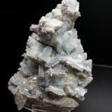 Barita, calcita Mina Moscona, Solis, Asturias, España 15x12cm, cristal de 3cm (Autor: Raul Vancouver)