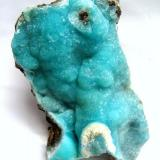 Hemimorphite Wenshan Mine, Wenshan Co., Yunnan Province, China Specimen size 11 cm  (Author: Tobi)