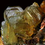 Cristales de Baritina Cerro Warihuyn, Miraflores, Huamalias, Huanuco, Perú 6 x 5 x 5 cms. Detalle del grupo de cristales ampliado. (Autor: Jordi Lluis Pi)