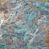 Turquesa Mina de la Turquesa - Cornudella de Montsant - El Priorat - Tarragona - Catalunya - España 65 x 40 x 20 mm Detalle (Autor: Joan Martinez Bruguera)