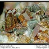 Vesuvianite Felskinn, Fee Glacier, Saas Fee, Zermatt, Wallis, Switzerland fov 3.5 mm (Author: ploum)