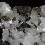 Hemimorfite and Calcite Ojuela Mine, Mapimí, Mun. de Mapimí, Durango, Mexico 12x9 cm. Fot. & Col. Juan Hernandez. Adquired in July of 2009.  Detail of the previous specimen (Author: supertxango)
