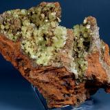Adamite Ojuela Mine, Mapimí, Mun. de Mapimí, Durango, Mexico 12x7 cm. Crystal Size: 4 mm. Fot. & Col. Juan Hernandez. Adquired in July of 2009. (Author: supertxango)