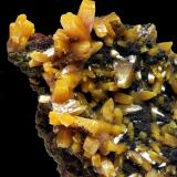 Wulfenite Level 6, Ojuela Mine, Mapimí, Mun. de Mapimí, Durango, Mexico 8x5 cm. Fot. & Col. Juan Hernandez. Adquired in July of 2009.  Detail of the previous specimen (Author: supertxango)