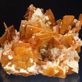 Wulfenite Defiance Mine, Gleeson, Cochise County, Arizona 6.5 x 8.5 cm. Collected from a large solution pocket on 1-29-1957. (Author: crosstimber)