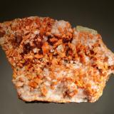 Vanadinite Grey Horse Mine, Dripping Springs Mts., Pinal Co., Arizona 7.5 x 10.0 cm Collected in June 1976 by Gary Fleck. (Author: crosstimber)