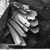 Linarita Pozo San Pascual, Coto La Luz, Linares, Jaén, Andalucía, España Ya que estaba con sulfatos, esta fue mi primera linarita de Linares (tiene su gracia ver el mineral de la localidad de donde toma el nombre). Esta imagen fue tomada en el curso de un trabajo para Bocamina. (Autor: Cesar M. Salvan)
