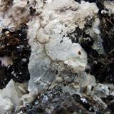 Witherite, Sphalerite, Ankerite, Baryte. Nentsberry Haggs mine, Alston moor, Cumbria, England, UK. FOV 40 x 30 mm (Author: nurbo)