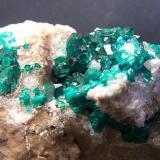 Dioptasa Altyn Tube - Karaganda - Kazajstán 7,5 x 4 cm Detalle de los cristales. (Autor: panchito28)