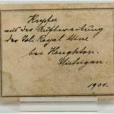 Copper Isle Royale Mines, Houghton, Houghton Co., Michigan, USA 8x7 cm. The old label from 1904 (Author: supertxango)