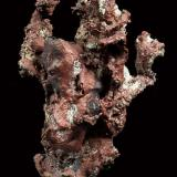 Copper Isle Royale Mines, Houghton, Houghton Co., Michigan, USA 8x7 cm. Fot. & Col. Juan Hernandez. Adquired in July of 2007. (Author: supertxango)