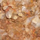 Cuarzo Cerros de la Sierrilla - Cáceres capital - Cáceres - Extremadura - España 9 x 9 cm. Detalle de los cristales de cuarzo interpenetrados (Autor: Antonio GG)