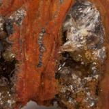 Adamita  manganesífera Mina Ojuela, Mapimí, Durango, México 7x6 cm Detalle de la anterior (Autor: victor chaul chamut)