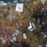 Fluorita Mina Moscona - El Llano - Solís - Corvera de Asturias - Asturias - España 70 x 55 x 20 mm Detalle Intercambiada en el 2012 Colección y Fotografía de Joan Martinez Bruguera (Autor: Joan Martinez Bruguera)
