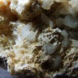 Calcite + ? Eller Beck, Askrigg, North Yorkshire, England, UK. FOV 20 x 20 mm approx (Author: nurbo)