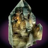 Quartz (variety smoky quartz)<br />Mas Sever Quarry, Massabè (Mas Ceber), Sils, Comarca La Selva, Girona/Gerona, Catalonia, Spain<br />15 cm high<br /> (Author: Joan R.)