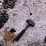 a crystal pocket in the granite, clearview claim Passmore BC (Author: thecrystalfinder)