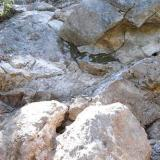 a bunch of pockets in the granite clearview claim Passmore BC (Author: thecrystalfinder)