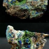Azurite and malachite - North Lancashire, UK (Author: Philip G)
