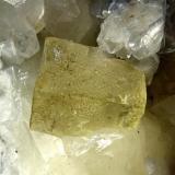 Fluorite, 2 cm crystal, on Calcite (Author: Harjo)
