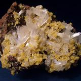 "Hemimorphite with Mimetite. Specimen measures 3 1/2"" x 2 3/4"" x 2"" (8.9cm x 7.0cm x 5.1cm) (Author: Jim Prentiss)"