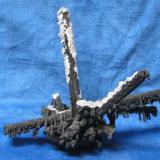"The ""Shipwreck"" goethite pseudo/epimorphous after gypsum. Buena Tierra Mine, Level 2, West Camp, Santa Eulalia, Chihuahua, Mexico. 25 cm across. (Author: Peter Megaw)"