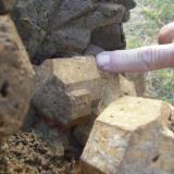 Close up of fist size crystals (Author: Glenn Rhein)