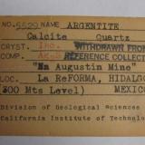 original label for specimen (Author: Peter Megaw)