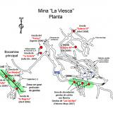 Plan of the modern La Viesca Mine (Author: James)
