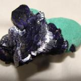 small cabinet...azurite on malachite (Author: Peter Megaw)