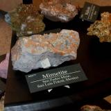 Mimetite San Pedro Mine, San Luis Potosi, Mexico App 8 cm across Photo taken with BlackBerry. (Author: Jean Sendero)